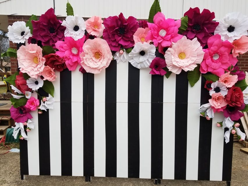 Floral Backdrop Floral Backdrop Paper Flower Wall