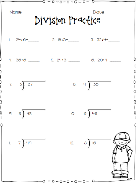 Division Practice Third Grade Division Worksheets Division Worksheets Interactive Notebooks Social Studies