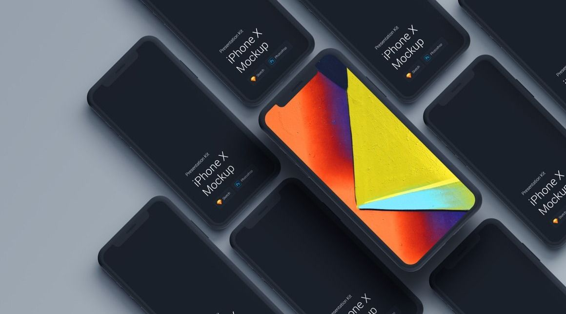 iPhone X Mockups Presentation Kit Web app design, Good