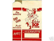2 Ca.1940-50 Majorette Popcorn Unused Boxes Vintage Old