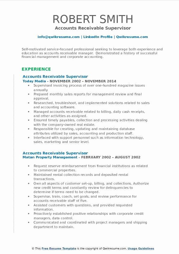 23 Accounts Receivable Job Description Resume With Images