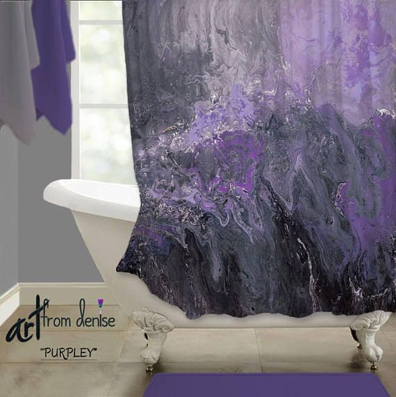 Abstract Shower Curtain Featuring Original Artfromdenise Colors