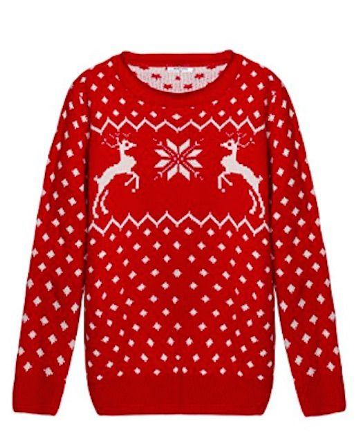 Reindeer Knit Christmas Sweater Girl | Christmas Sweaters ...
