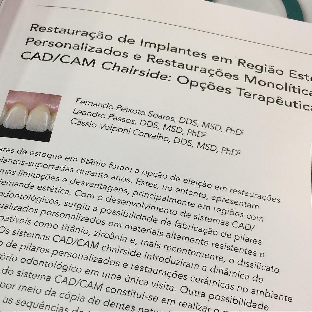 Mais um artigo publicado! Lançado no #ciosp este artigo descreve novas técnicas para restaurar implantes em áreas estéticas com o sistema #cerec. Escrito com os meus amigos Leandro Passos e Cassio Carvalho @cassiovcarvalho #ciosp #saopaulo #saudeebemestar #dentistasp #cerecde #dentista #dentistasp #implant #implante #implantes #implantesdentarios #sorriso #lentesdecontatodental #lentedecontatodental