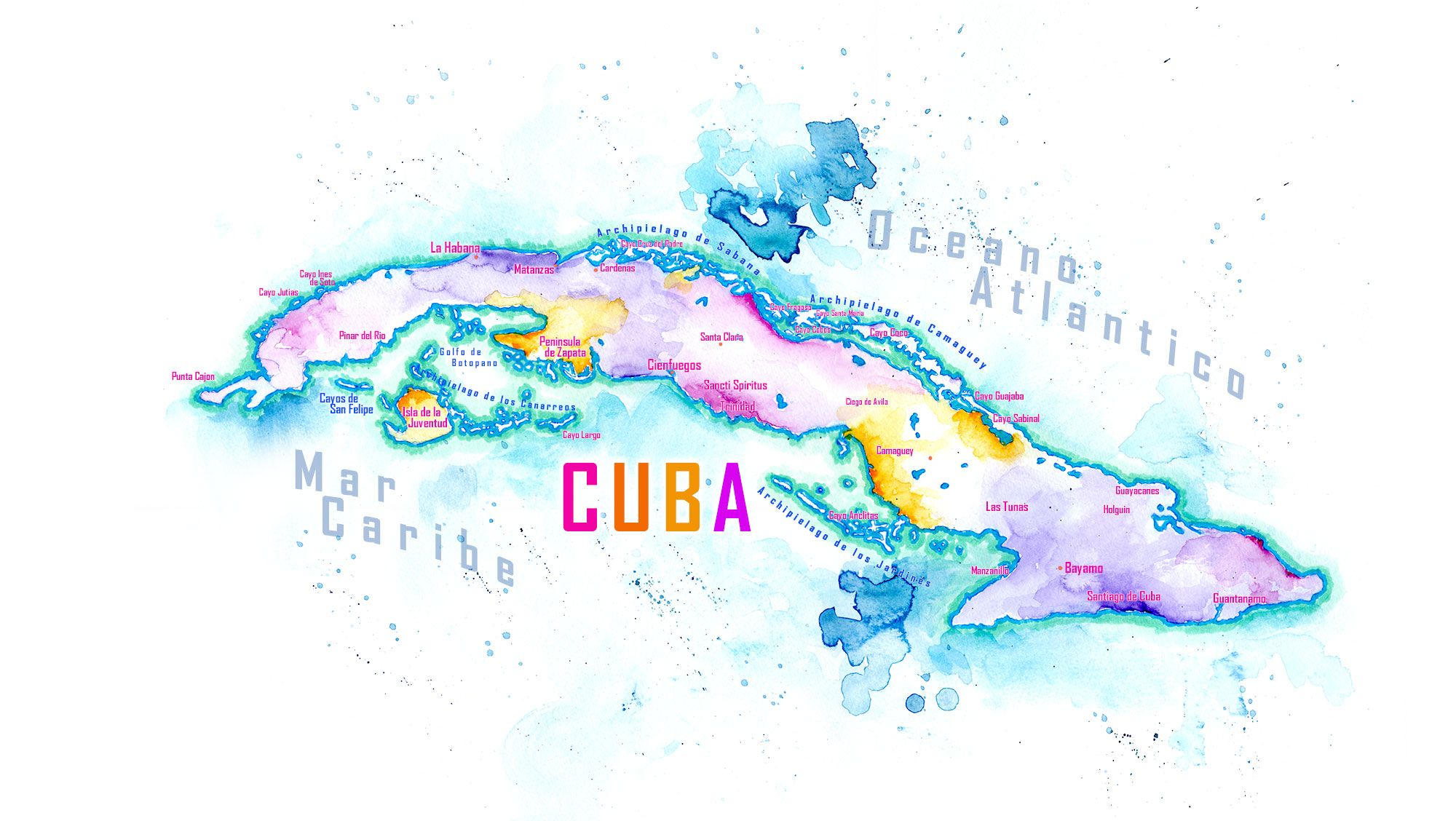 Map Usa And Cuba