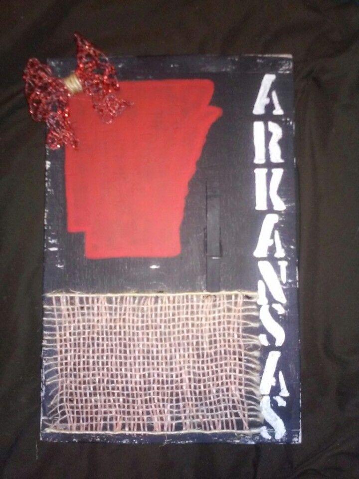 Arkansas wood sign