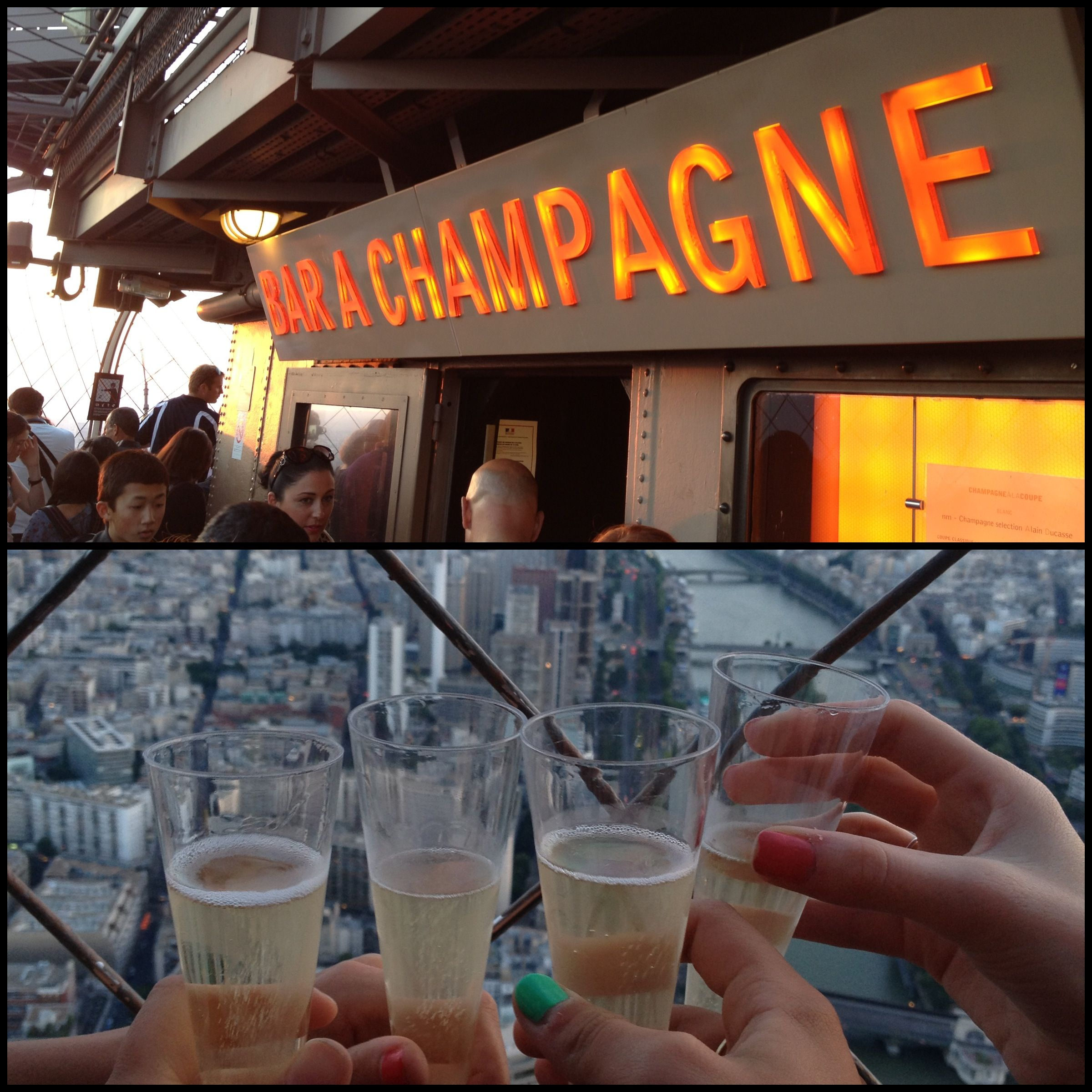 Champagne Bar At The Top Of The Eiffel Tower