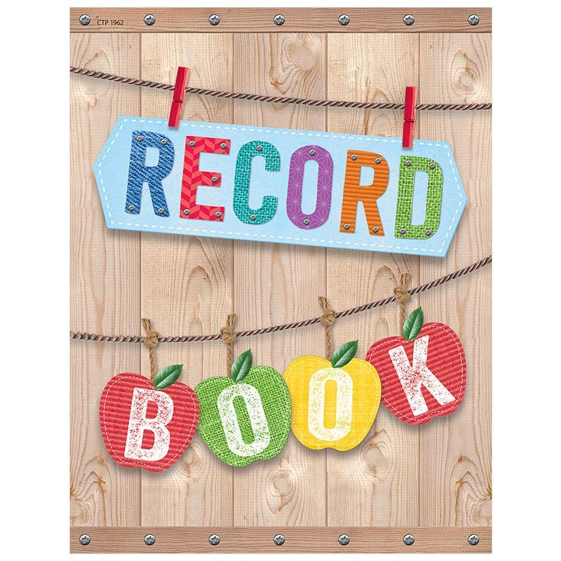 Upcycle style record book Products - contact log template