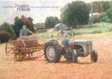 Australian Heritage Series Grey Fergie Tractor Farm Machinery Tin Sign