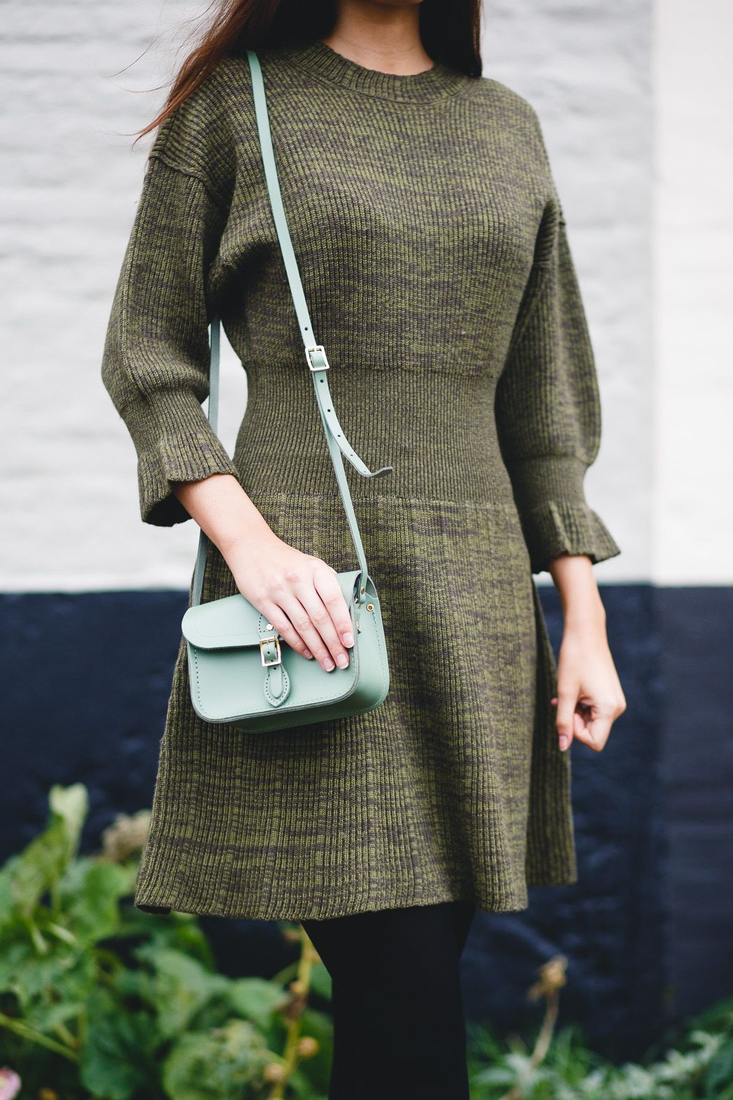 a74201dbee6815 Sonia by Sonia Rykiel peplum dress and satchel from The Cambridge Satchel  Company