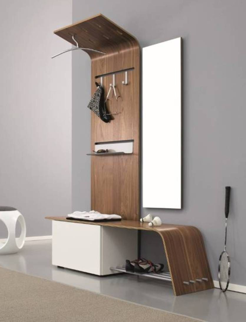 Furniture Entryway Ideas Modern Design With Bench And Mirror Hooks Shelf
