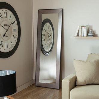 Miroir mural rectangulaire bois 50x160cm Argent LENGTH