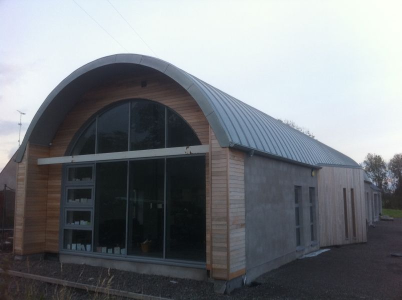 Pin By Sarah Cole On Barn Conversion In 2020 Roof Architecture Zinc Roof Modern Roofing