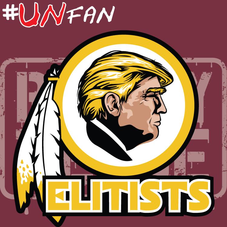 Funny Redskins Parody Logo UNfan Redskins Giants