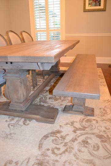 Home Decorators Collection Aldridge Antique Grey Wood Dining Bench