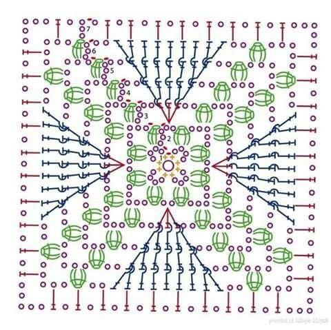4kant met kruis in het midden