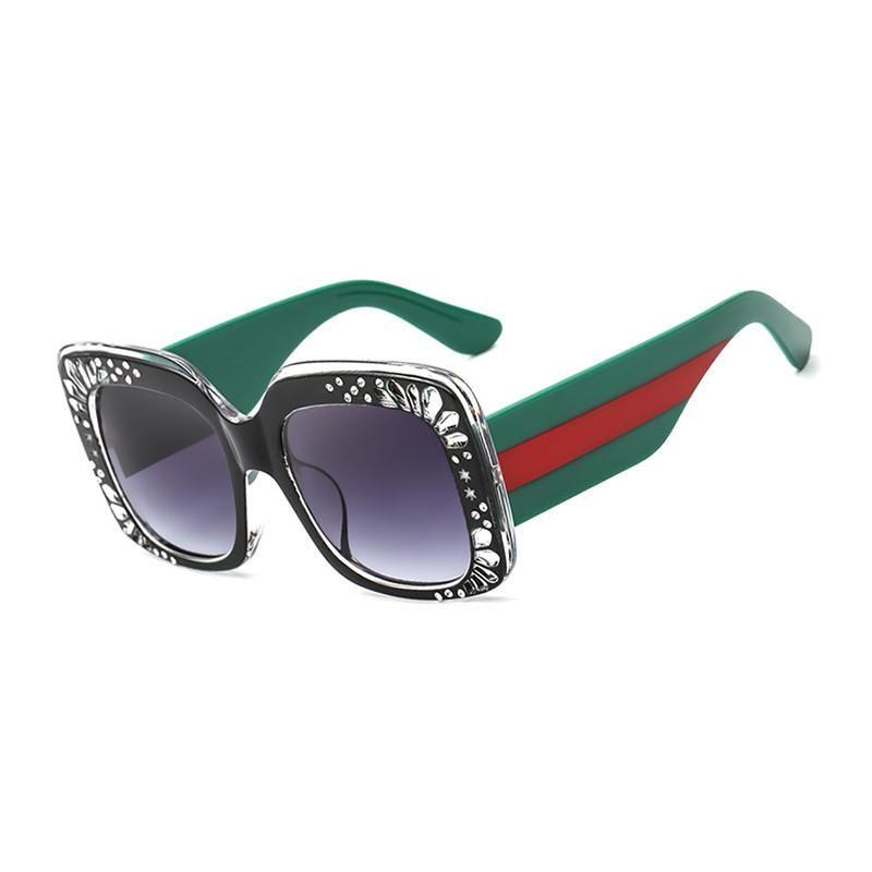 02acbc9c1b5 Eyewear · 2018 New Luxury Crystal Frame Square Sunglasses Women Fashion  Brand Designer Lady Sun Glasses ...