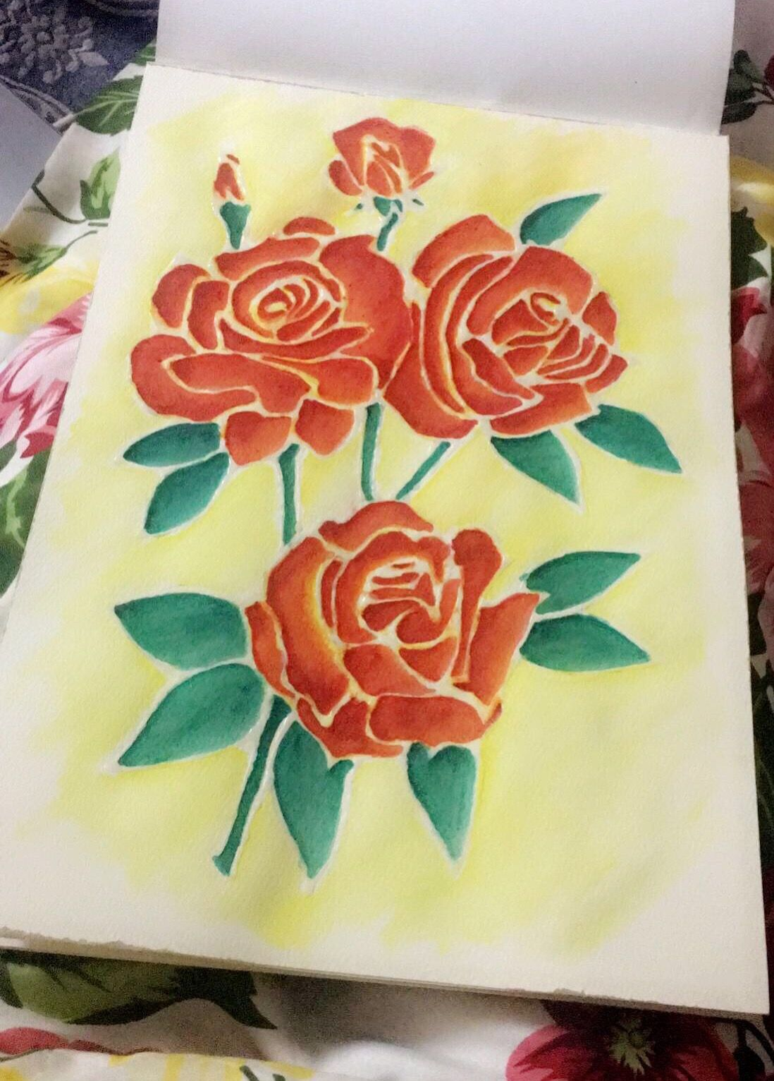 Water colors and outlining using fevicol | Draw-paint-origami ...