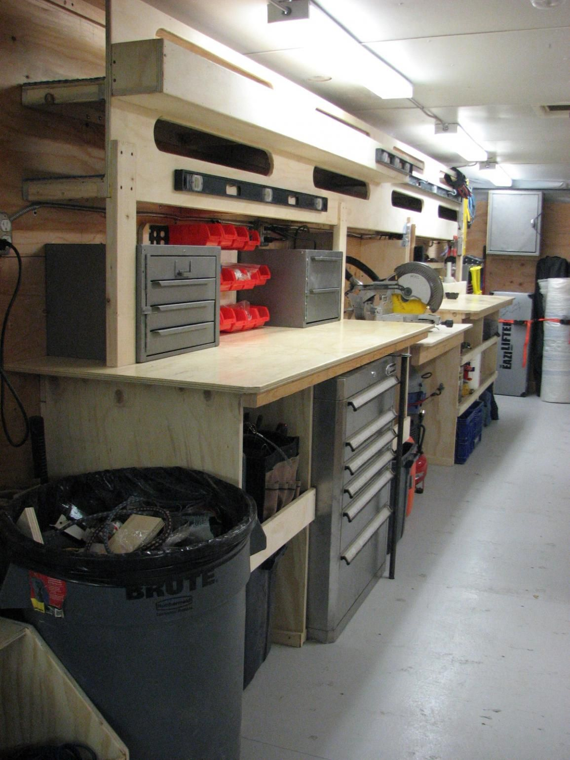 how to build shelves in enclosed trailer