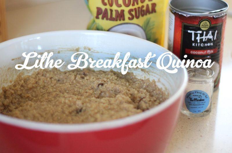 Lithe Breakfast Quinoa