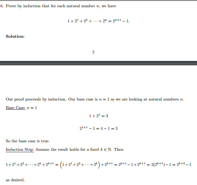 Proof By Induction Natural Number Math Lessons Mathematics