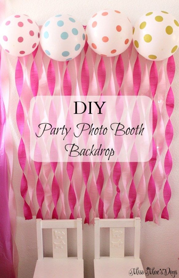 Princess 1st Birthday Party DIY Photo Booth Backdrop