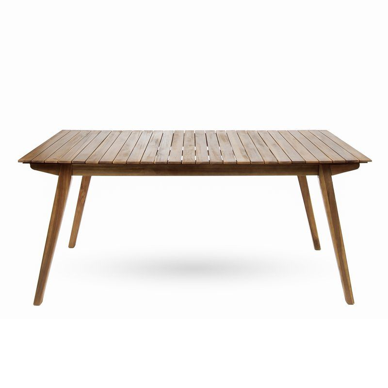 Lindquist Outdoor Wooden Dining Table Apartment Pinterest