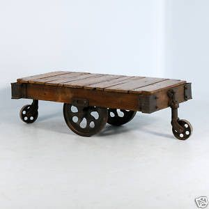 Antique Luggage Cart ~ Great as a Coffee Table - eBay (item ...