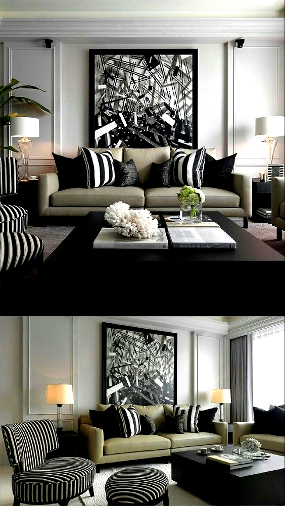 a black and white color scheme with green accent creates a