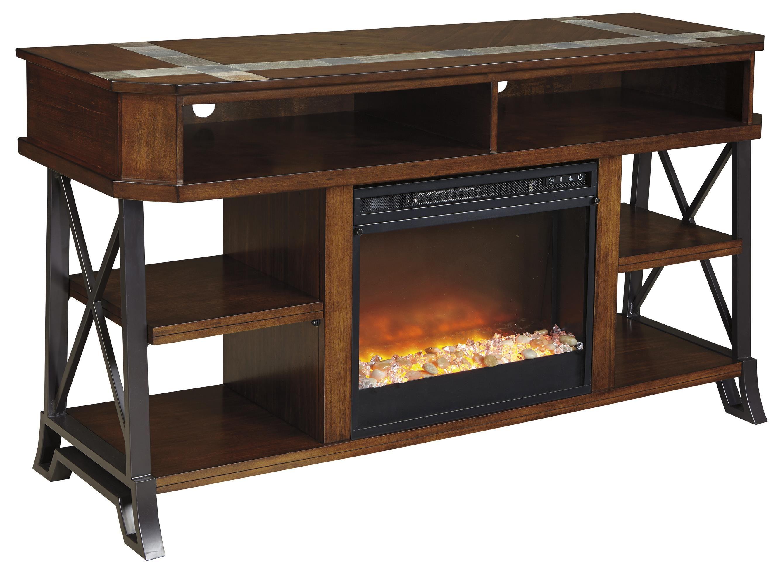 Super Vinasville Tv Stand With Fireplace Insert By Signature Complete Home Design Collection Barbaintelli Responsecom