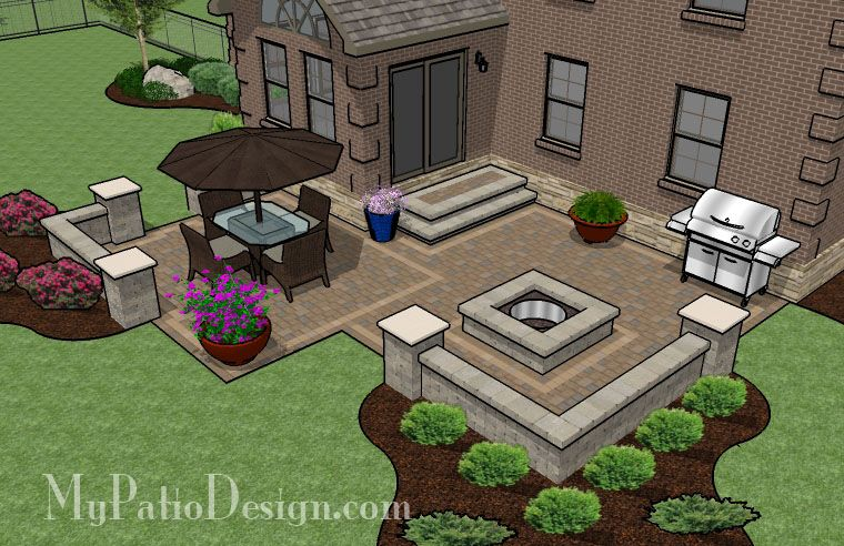 Fun, Family Patio | Patio Designs and Ideas - straight ... on Patio Designs For Straight Houses id=89152