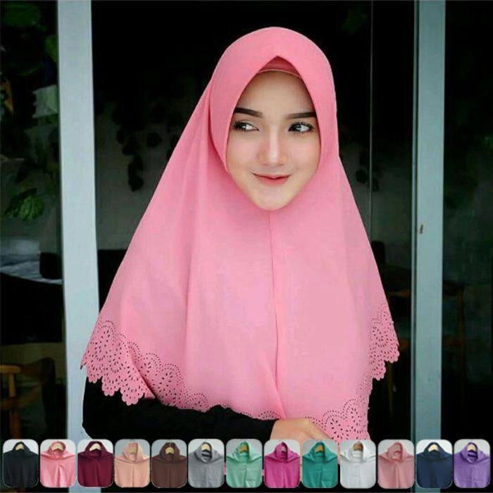 Jilbab Yang Cocok Untuk Baju Warna Pink Peach