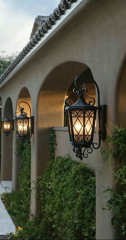 Old World Outdoor Lighting Lanterns Can Go Mediterranean