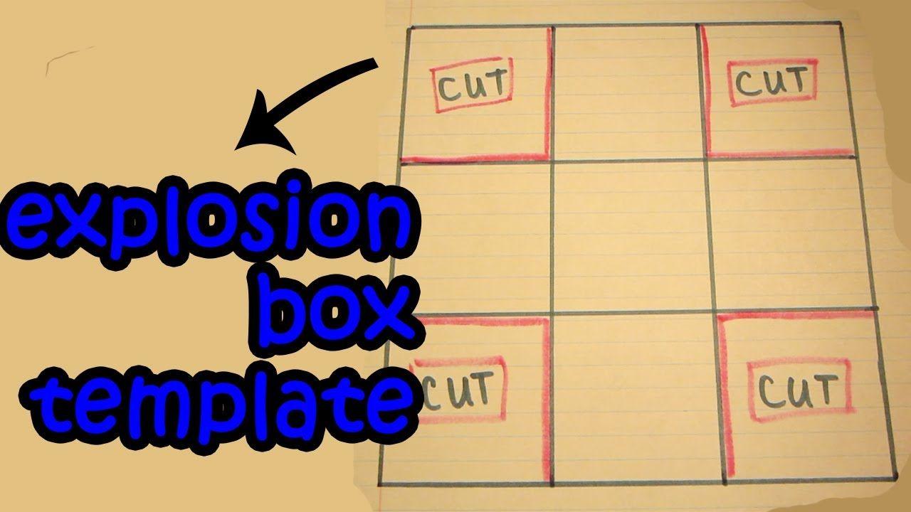 *Tutorial* Easy Explosion Box Template (for Tea Light Cake
