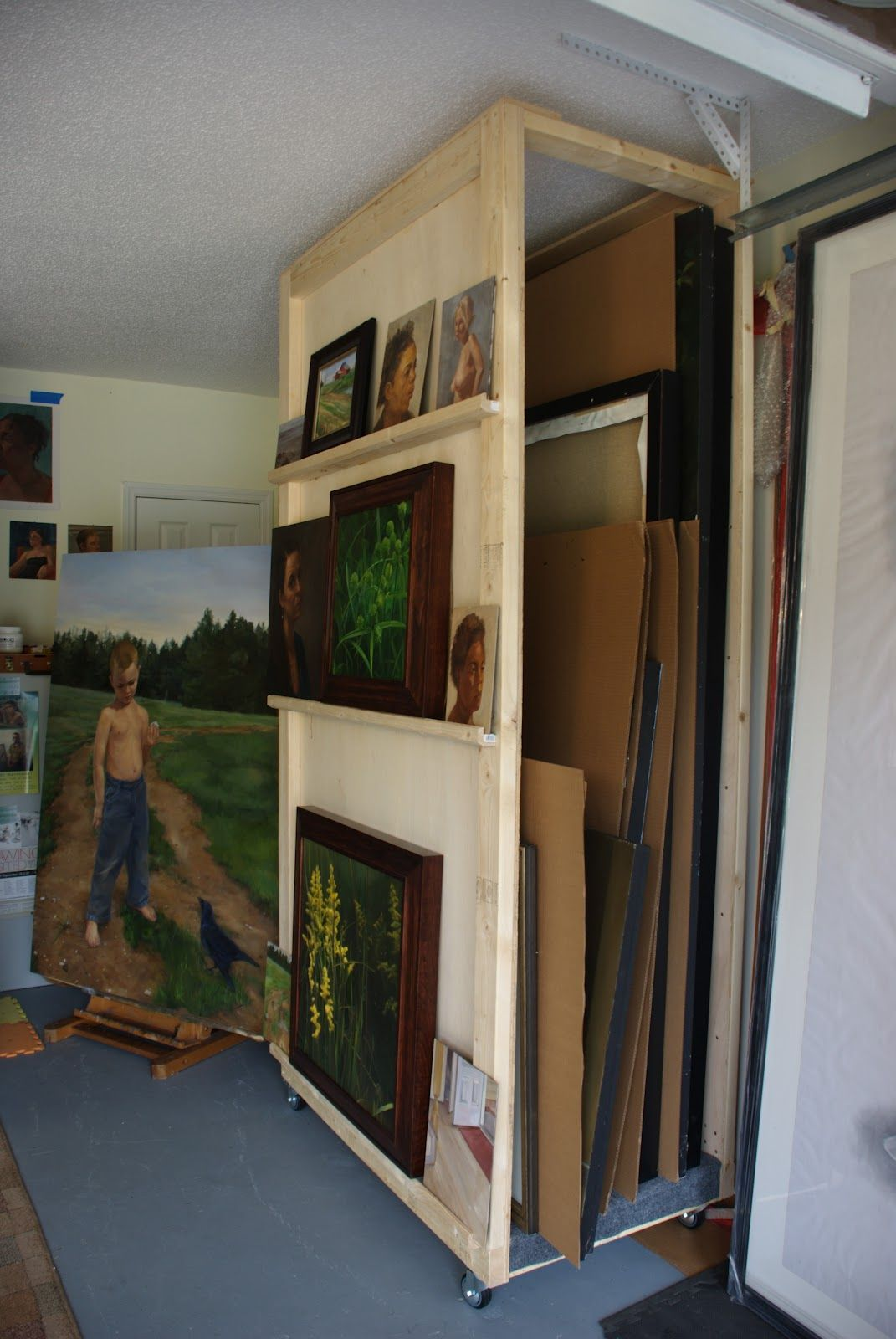 how to store paintings on canvas