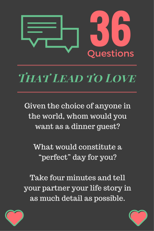 Questions that lead to love