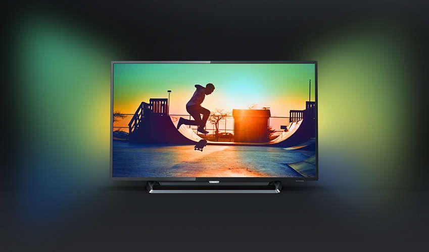 Tv Philips 43pus6262 Uhd 4k Ambilight 2 Cotes Pas Cher Televiseur 4k Fnac Ventes Pas Cher Com Televiseur Television Connectee Tv Led