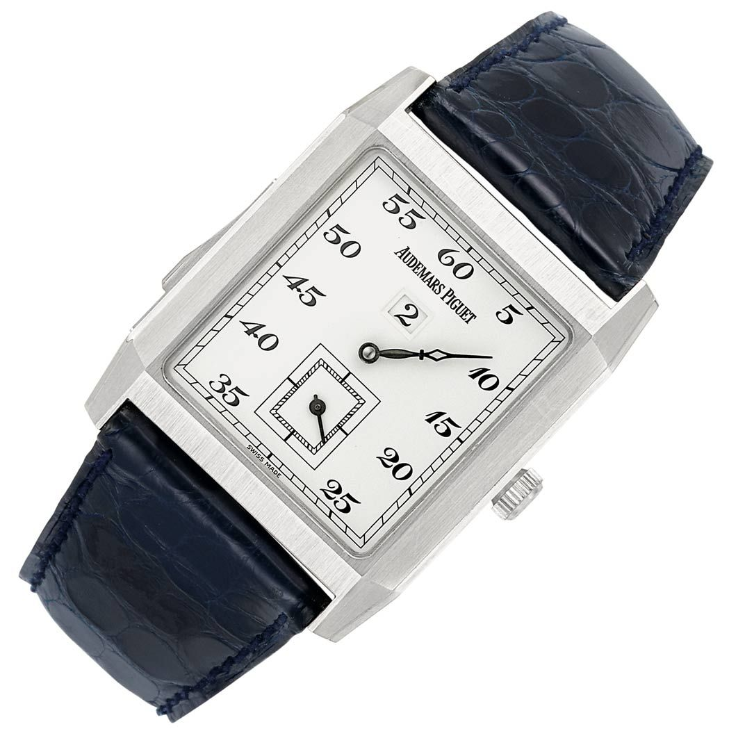 4aa4bb2cc3fb Gentleman s Platinum Minute Repeating  Jump Hour  Wristwatch ...