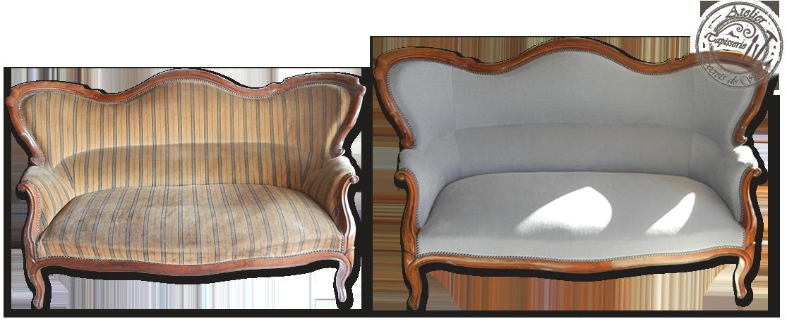 Atelier Secrets de Siège, canapé à bosse, Napoléon III, avec un ...