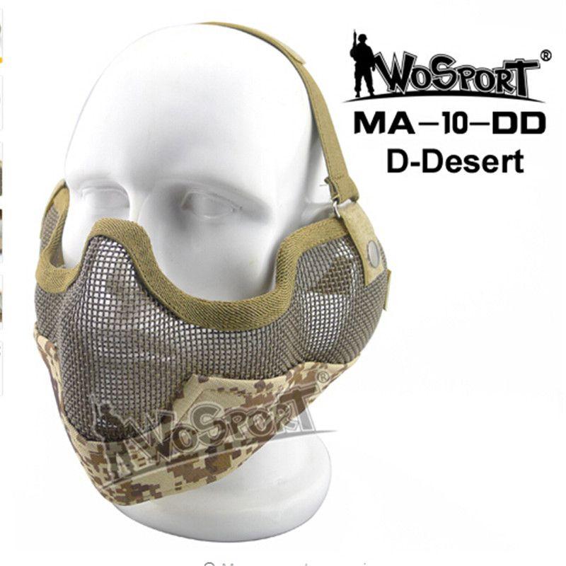 Tactique Airsoft Masque Strick Oreille Protection En Metal Acier Net
