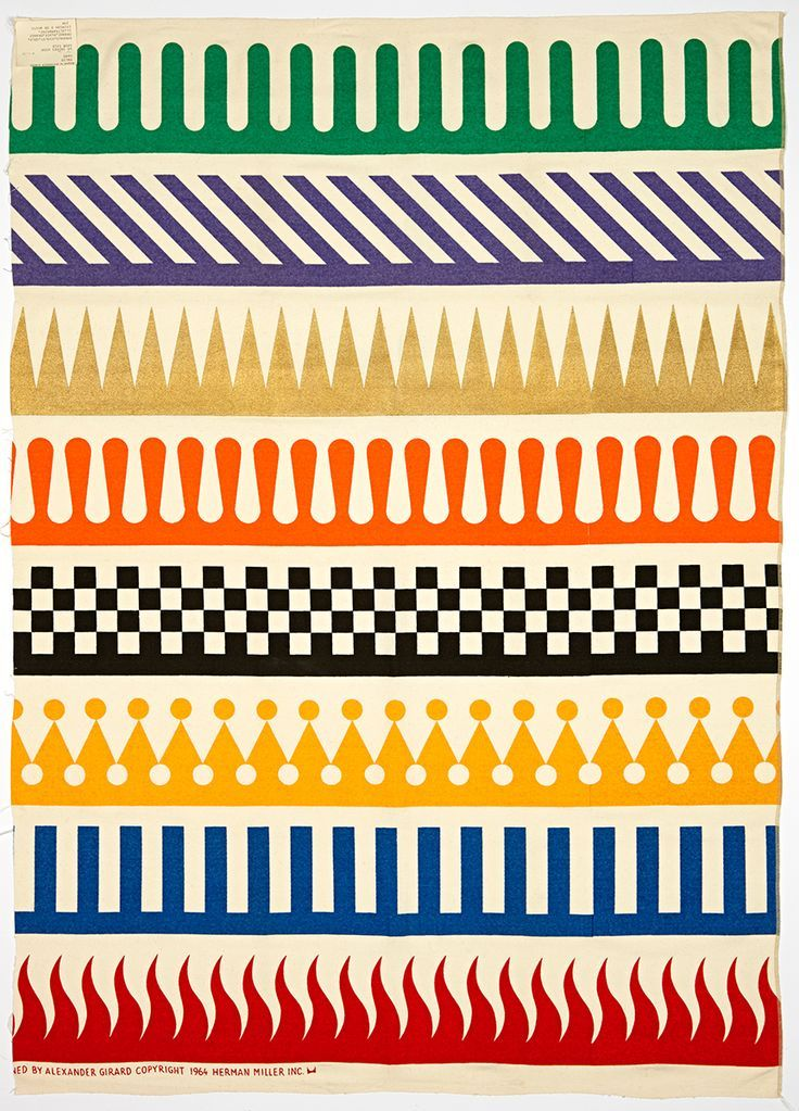 PalioAlexander Girard for Herman Miller, 1964Available in four colorways through Maharam as part of their Textiles of the 20th Century collection