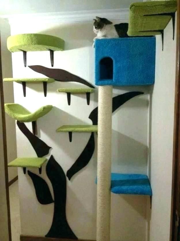 Tremendous Wall Mounted Cat Tree Mesmerizing Trees Best Of