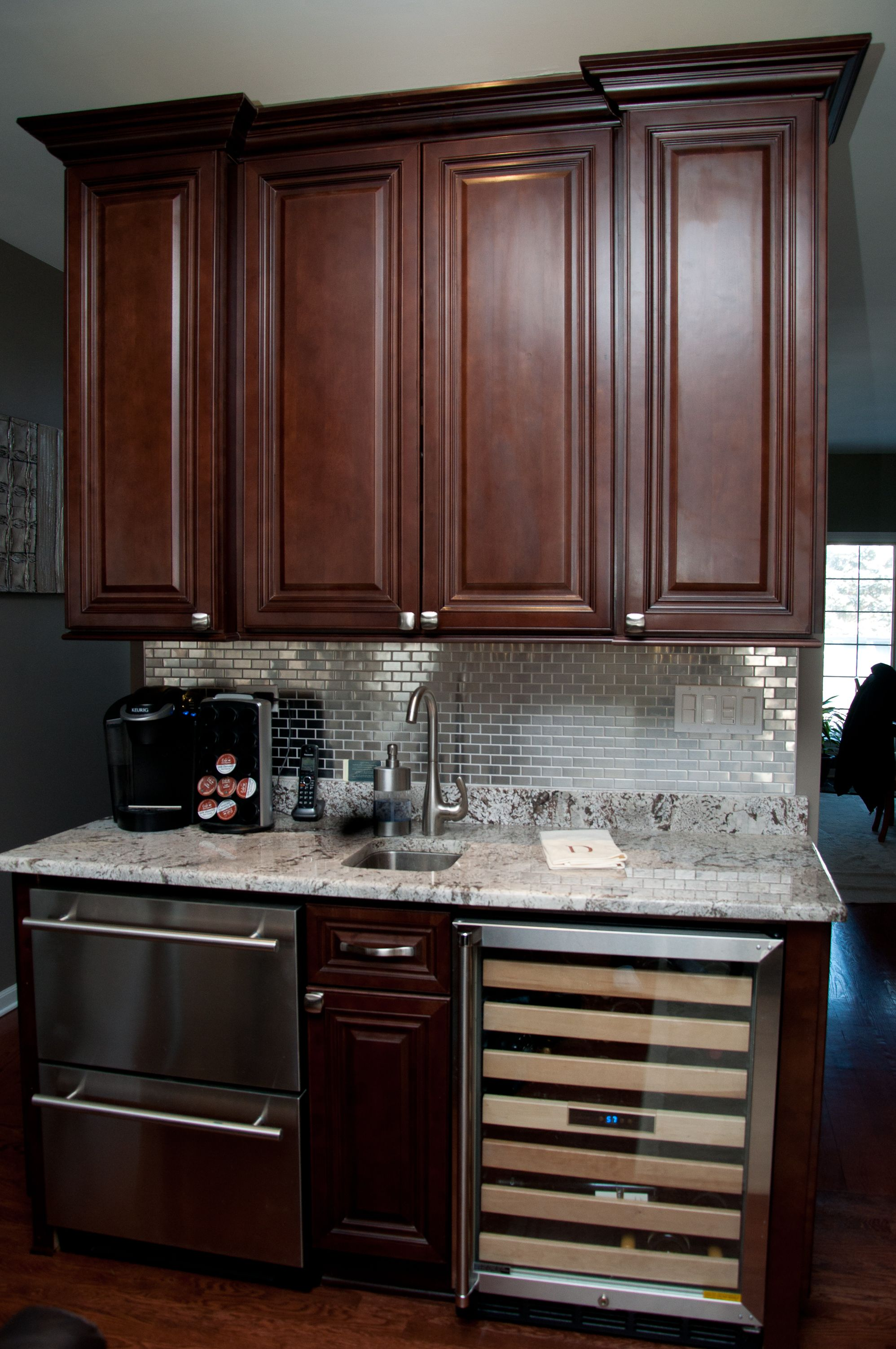 Choice Cabinet Raised The Bar Here The Perfect Landing Zone For All Your Bar Prep Needs What S Your Libation Of Choice New Kitchen Cabinet Wood Cabinets