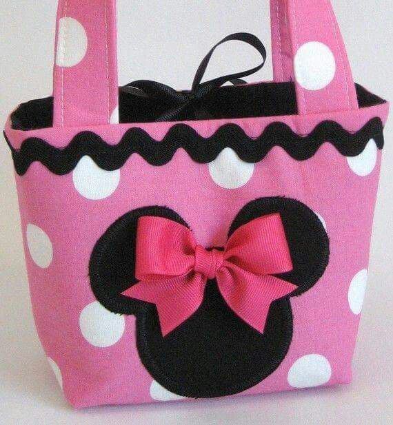 Bolsito bolsos pinterest mice minnie mouse and - Manualidades minnie mouse ...