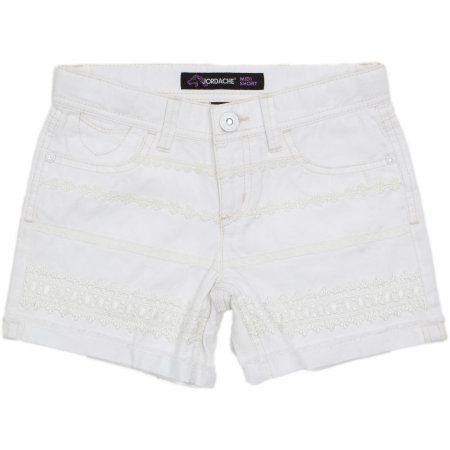 Jordache Girls' Crochet Front Frayed Cuff Denim Shorts, Size: 4 ...