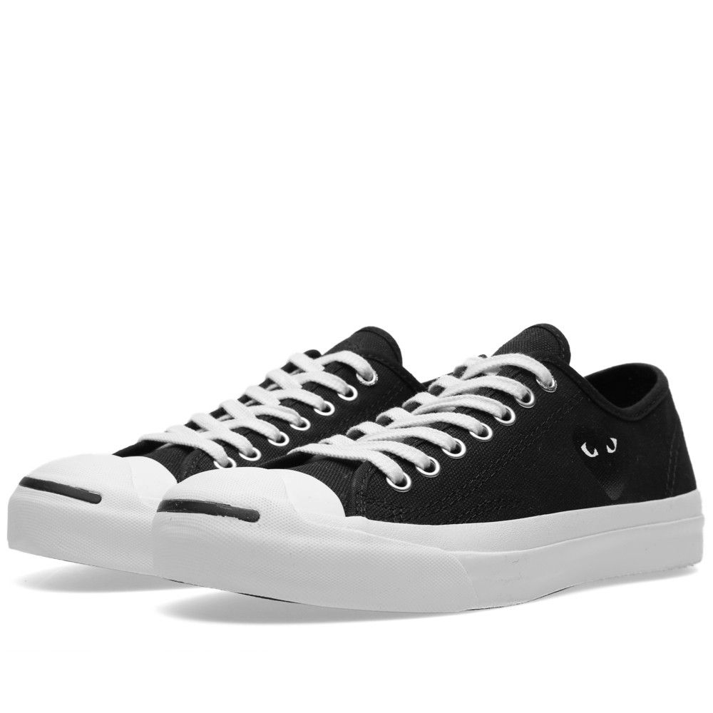 e8c59e689b3c Comme des Garcons Play x Converse Jack Purcell Ox (Black   Black ...