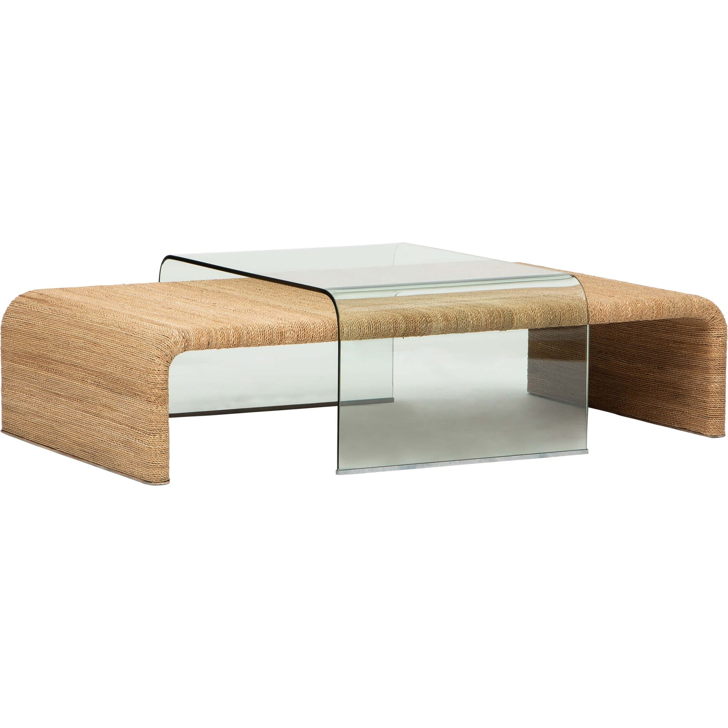 Amani Rope And Glass Coffee Table Coffee Table Tempered Glass Table Top Glass Coffee Table [ 2500 x 2500 Pixel ]