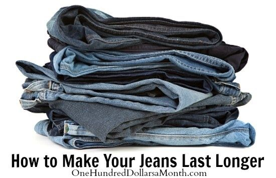 When washing your jeans, turn them inside out and marinate them in vinegar before washing.