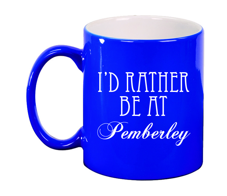 Ceramic Mugs - Round 11oz - I'd Rather be at Pemberly