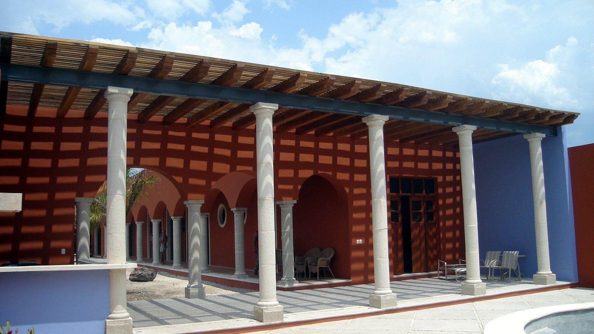 Pergola de madera dura pucte sobre viga ipr m rida yuc - Construccion de pergolas de madera ...